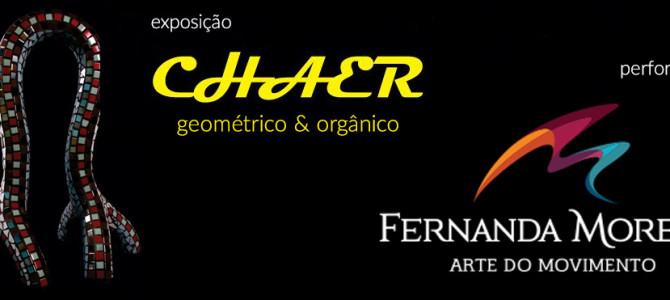 Exposição Chaer e performance Fernanda Moretti